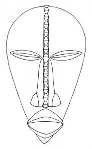 Masque 10 - motif à imprimer