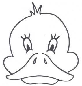 Masque canard - motif à imprimer