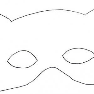 Masque loup - motif à imprimer