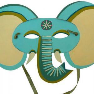 Masque éléphant - motif à imprimer