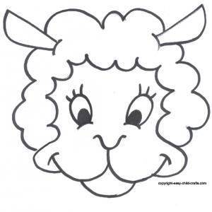 Masque mouton - motif à imprimer
