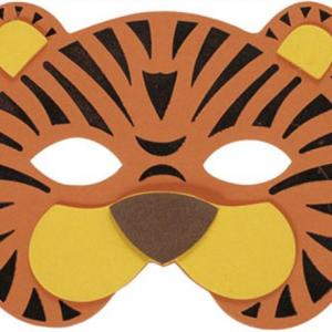 Masque tigre - motif à imprimer