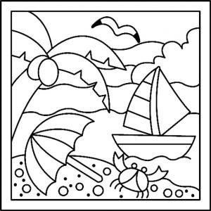 Mer 01 - motif à imprimer