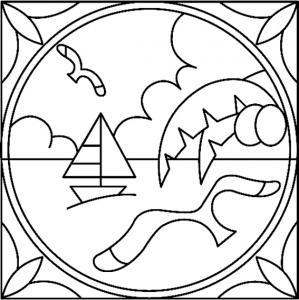 Mer 02 - motif à imprimer