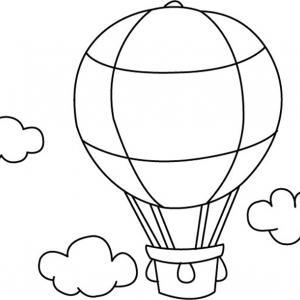 Montgolfière 01 - motif à imprimer