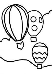 Montgolfière 02 - motif à imprimer