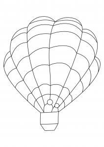 Montgolfière 03 - motif à imprimer