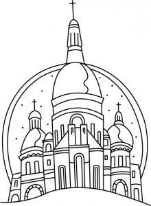 Moscou - motif à imprimer