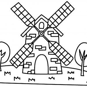 Moulin 01 - motif à imprimer