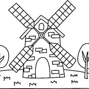 Moulin 03 - motif à imprimer