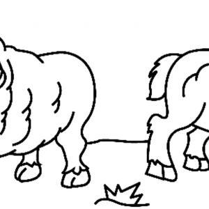 Mouton 03 - motif à imprimer