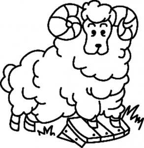 Mouton 04 - motif à imprimer