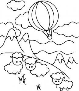 Mouton 05 - motif à imprimer