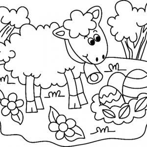 Mouton 06 - motif à imprimer