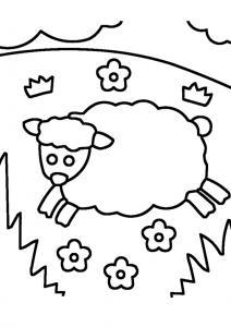 Mouton 07 - motif à imprimer
