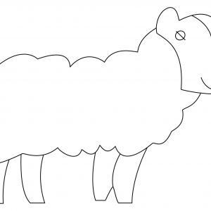 Mouton 08 - motif à imprimer