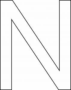 N majuscule - motif à imprimer