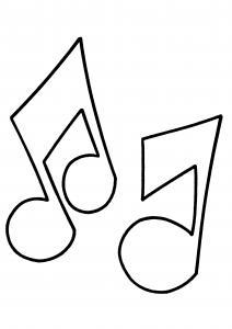 Notes de musique 01 - motif à imprimer