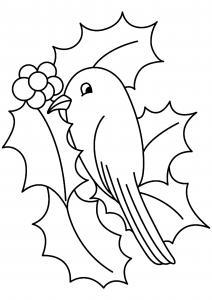 Oiseau 08 - motif à imprimer