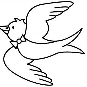 Oiseau 09 - motif à imprimer