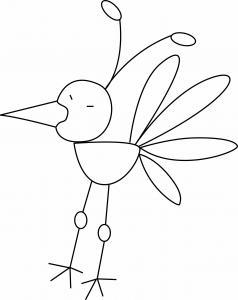 Oiseau 17 - motif à imprimer