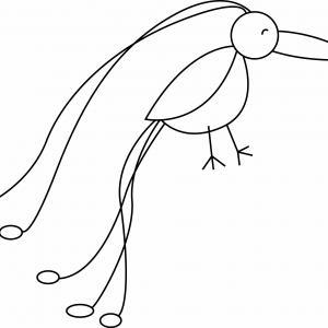 Oiseau 25 - motif à imprimer