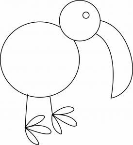 Oiseau 27 - motif à imprimer