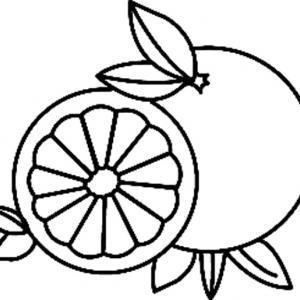 Orange 01 - motif à imprimer