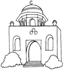 Palais marocain - motif à imprimer