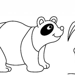 Panda 02 - motif à imprimer