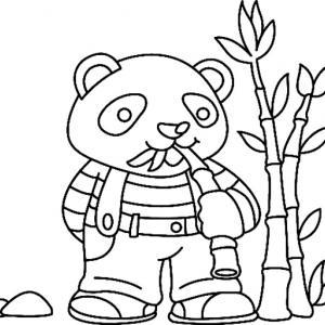 Panda 03 - motif à imprimer