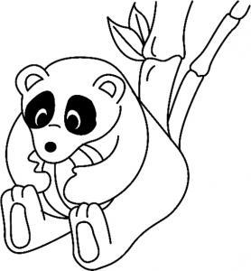 Panda 04 - motif à imprimer