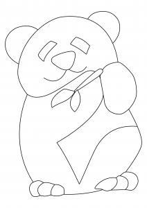 Panda 05 - motif à imprimer