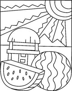 Pastèque 02 - motif à imprimer