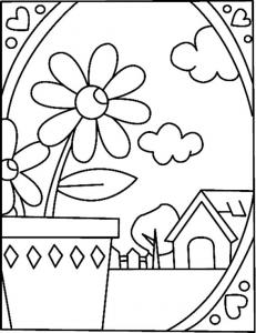 Paysage 02 - motif à imprimer