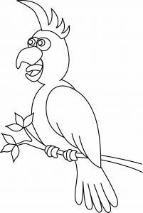 Perroquet 05 - motif à imprimer