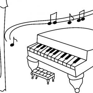Piano 01 - motif à imprimer