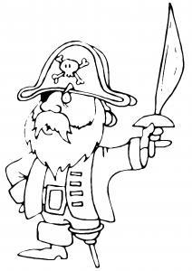 Pirate 01 - motif à imprimer