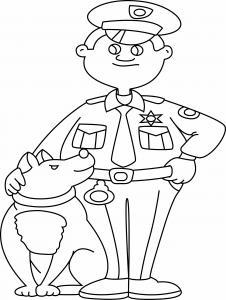 Policier 01 - motif à imprimer