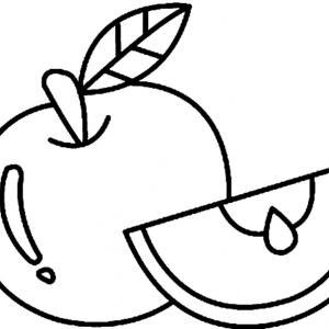 Pomme 02 - motif à imprimer