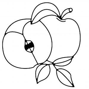 Pomme 03 - motif à imprimer
