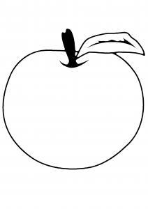 Pomme 06 - motif à imprimer