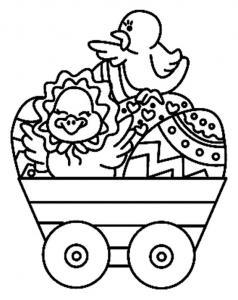 Poussin 10 - motif à imprimer
