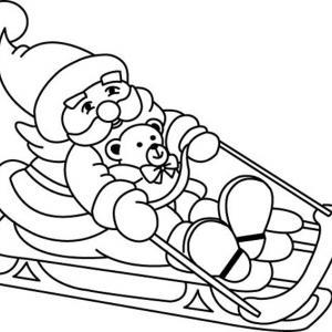 Père Noël 03 - motif à imprimer