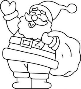 Père Noël 04 - motif à imprimer