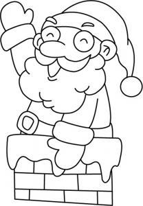 Père Noël 06 - motif à imprimer