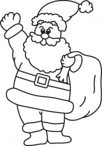 Père Noël 07 - motif à imprimer