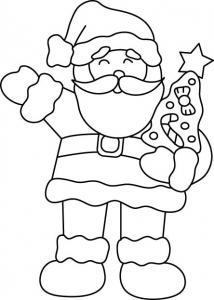 Père Noël 08 - motif à imprimer