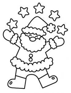 Père Noël 11 - motif à imprimer