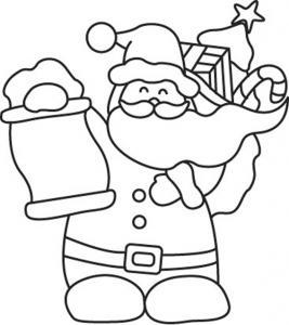 Père Noël 12 - motif à imprimer